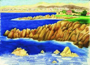 Pacific Grove Rocky Shore - Catherine Lee Neifing