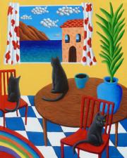 Cat Window to Sea