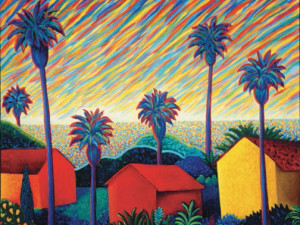 Tropical Houses, Colorful Palms